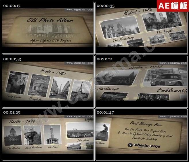 AE5792三维相册照片展示电子相册AE模板