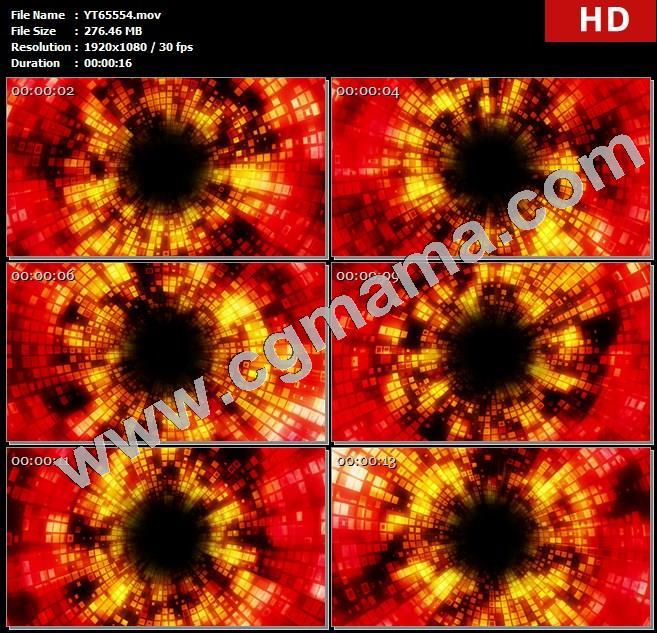 YT65554螺旋式上升火热像素隧道高清实拍视频素材