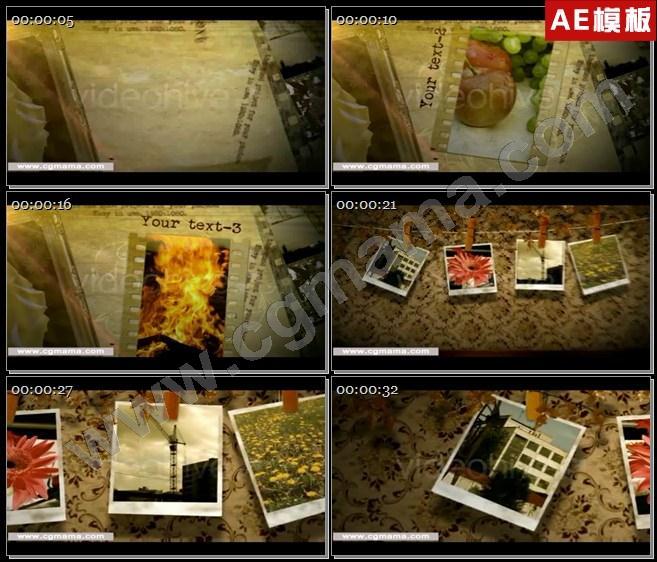AE5484复古胶片老房子图文展示AE模板
