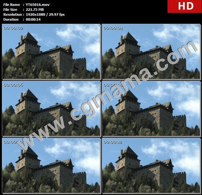 YT65016国外奥地利乡村城堡高清实拍视频素材