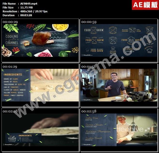 AE9849优秀的美食栏目包装ae模板