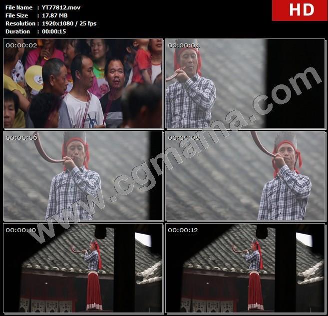 YT77812上香祭拜祭祀薛令之屋檐高清实拍视频素材