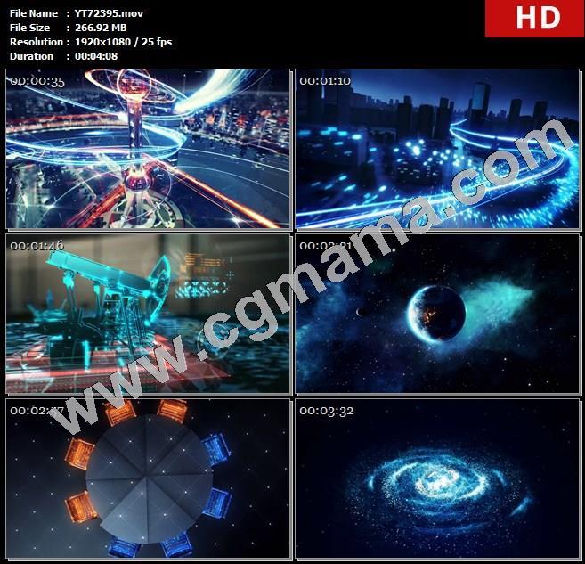 YT72395高端科技数据东方明珠监控信息云端光线城市云计算高清实拍视频素材