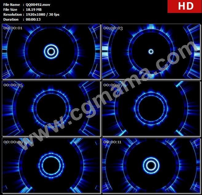 QQ00492时尚动感节奏闪烁扩散6高清晚会led大屏视频素材定制