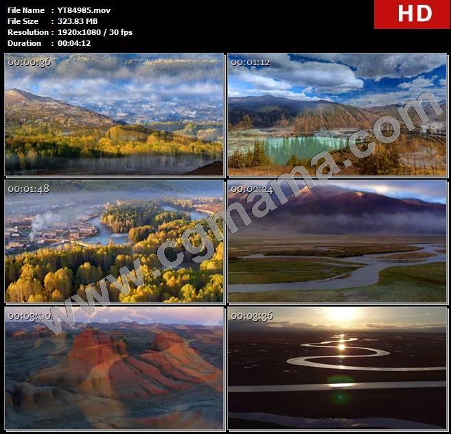 YT84985新疆旅游风景沙漠绿洲骆驼队高清led大屏晚会背景视频素材制作