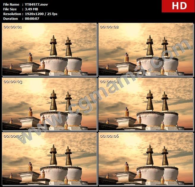 YT84977西藏布达拉宫标志藏族文化高清舞台背景高清led大屏晚会背景视频素材制作