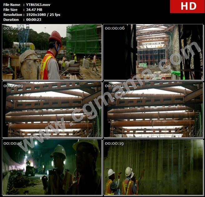 YT86563工程师工人建筑工地建材工厂高清实拍视频素材