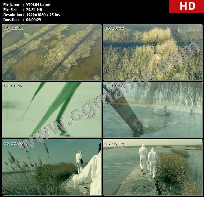 YT98641乌梁素海芦苇下雨天鹅鸟类船只老张专家治理海域高清实拍视频素材