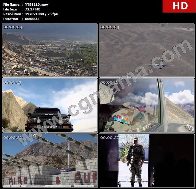 YT98210山脉房屋直升飞机军车军人部队军舰国旗敬礼高清实拍视频素材