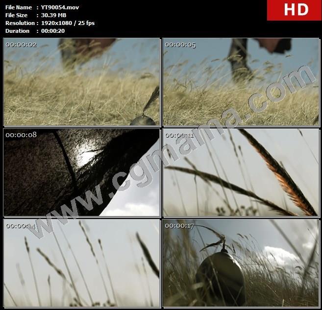 YT90054草地将军将士翎羽斗篷李广高清实拍视频素材