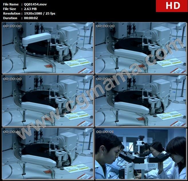 QQ01454实验科研人员实验室研究观察显微镜高清实拍视频素材