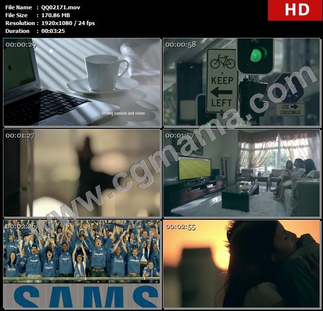 QQ02171三星产品企业形象宣传片高清实拍 手机电视相机儿童游玩居家跑步高清实拍视频素材