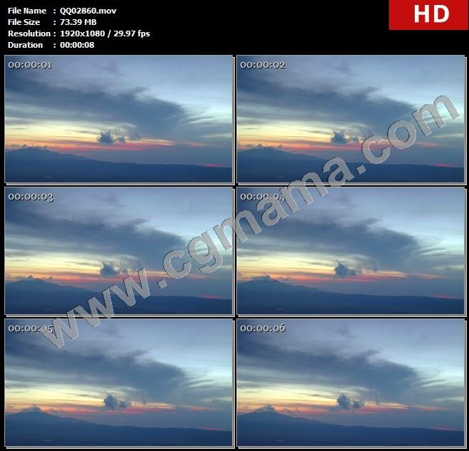 QQ02860夕阳下的天空自然风光高清实拍视频素材