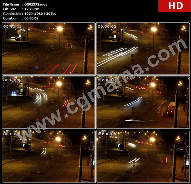 QQ01372夜间高速公路交通车辆转弯通行行驶镜头快速运动高清实拍视频素材