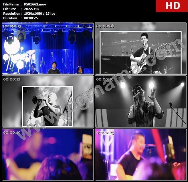 PS01662演唱歌手照片人物观众舞台高清实拍视频素材