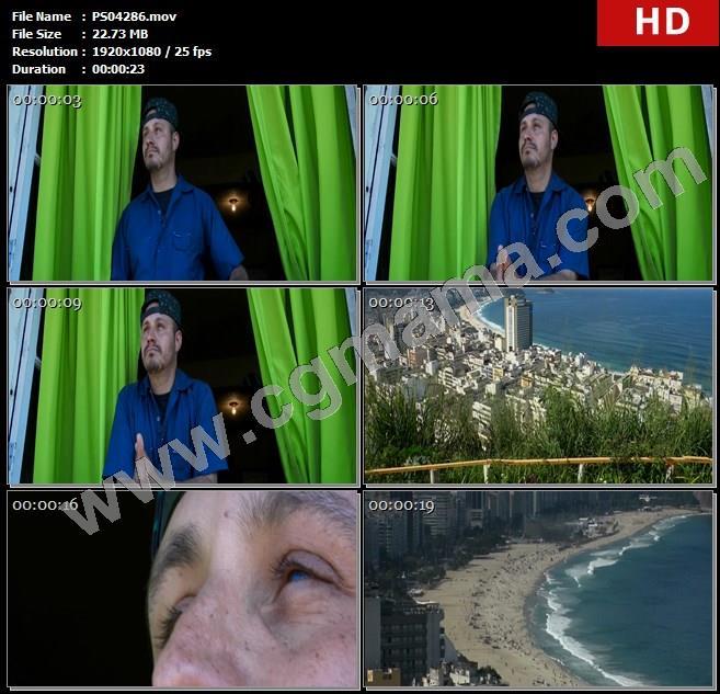 PS04286飞鸟蓝天建筑阿克米窗户窗帘大海楼房高清实拍视频素材