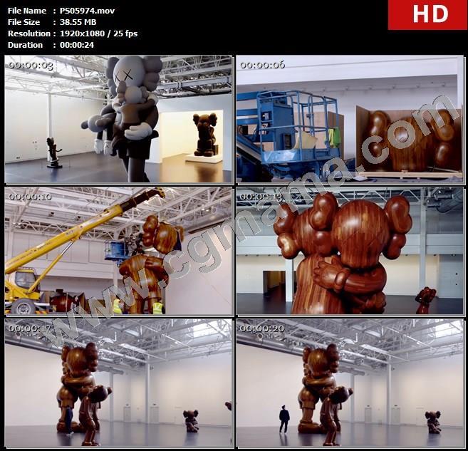 PS05974树人物拼装吊车特写车间模型高清实拍视频素材
