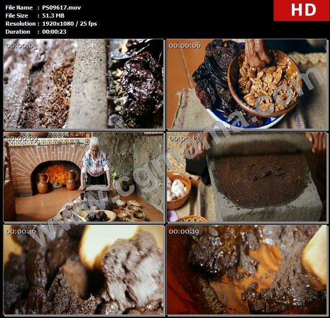 PS09617老人研磨食材酱料制作莫来酱墨西哥高清实拍视频素材