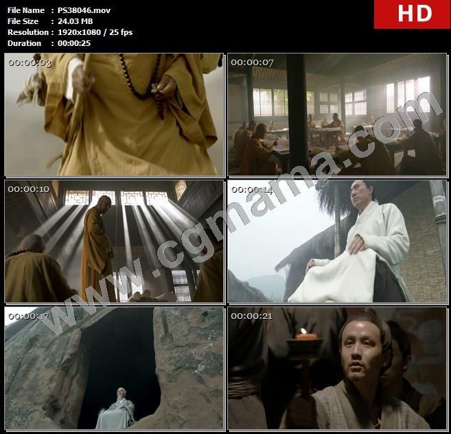 PS38046学院学者僧人典籍文化知识老人儒家思想佛教壁画高清实拍视频素材