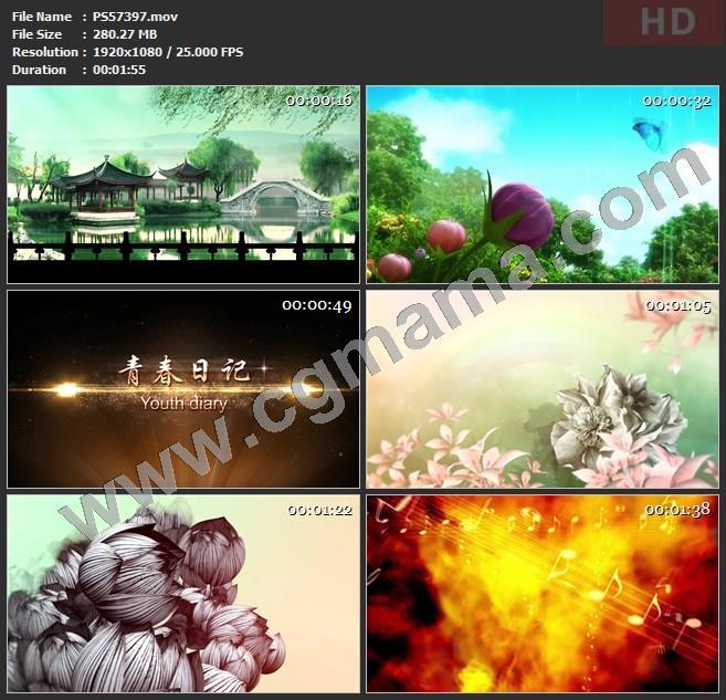 PS57397鲜花蝴蝶生命彩虹青春年轻原创成品led舞蹈大屏高清视频素材