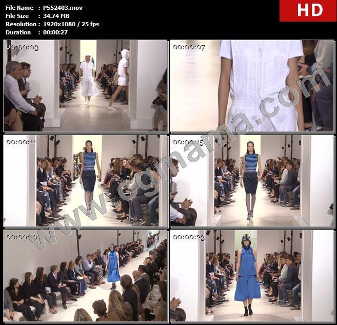 PS52403模特走秀秀场时装秀帕科女装时尚休闲高跟鞋高清实拍视频素材