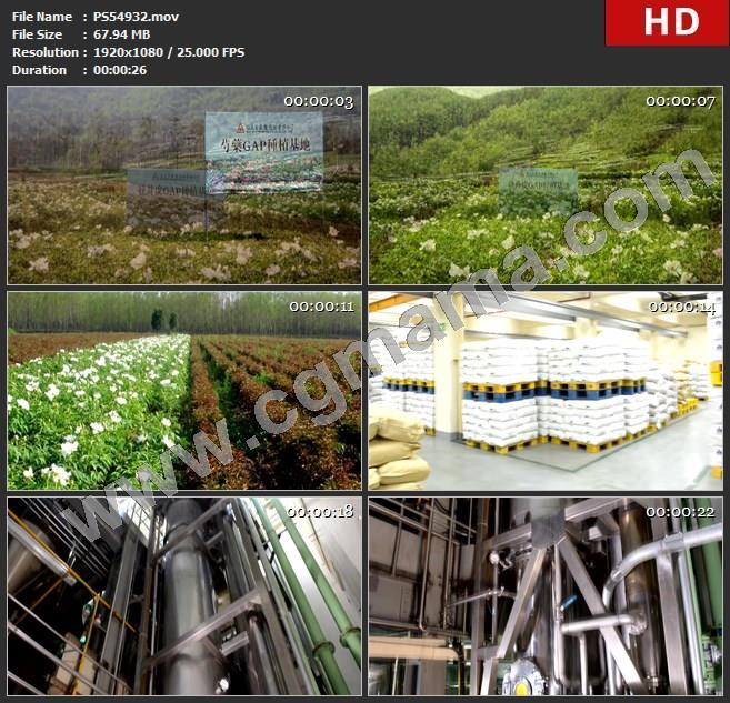 PS54932横幅合影土壤标牌枯树白花药材仓库仪器操作员高清实拍视频素材