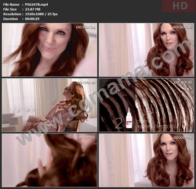 PS62478巴黎欧莱雅花朵染发剂高清广告tvc视频素材