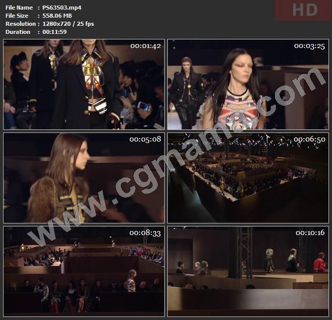 PS63503时装秀秀场观众模特走秀高清广告tvc视频素材