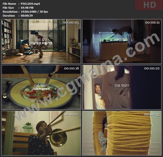 PS61269书籍潜水鱼缸金鱼刀叉西餐高清广告tvc视频素材