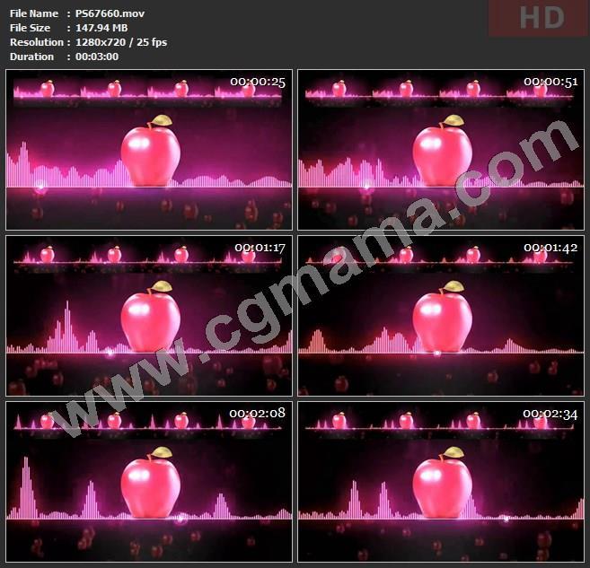PS67660广场舞洗脑神曲小苹果音浪音乐版舞蹈大屏幕led晚会高清视频素材