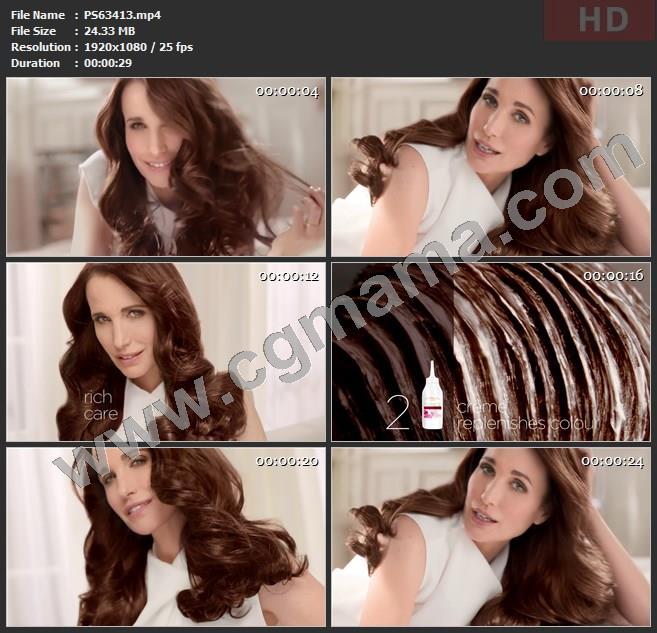 PS63413染发剂秀发巴黎欧莱雅高清广告tvc视频素材