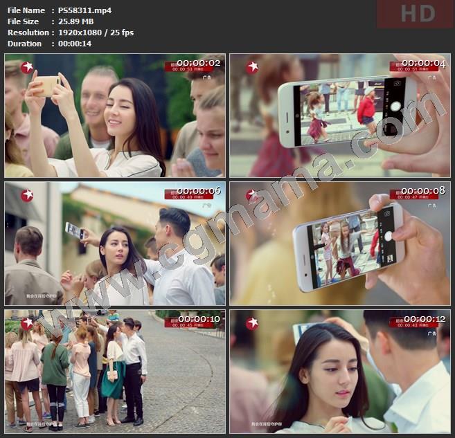 PS58311迪丽热巴oppo R11拍照手机高清广告tvc视频素材