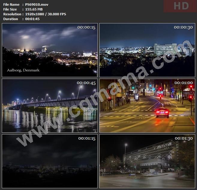 PS69010奥尔堡城市风情旅游实拍高清实拍视频素材
