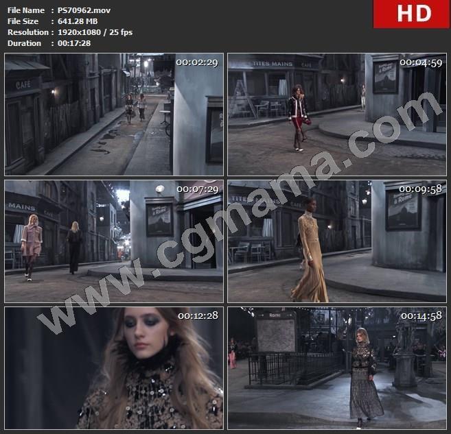 PS70962秋冬时装巴黎街头主题走秀发布会高清实拍视频素材