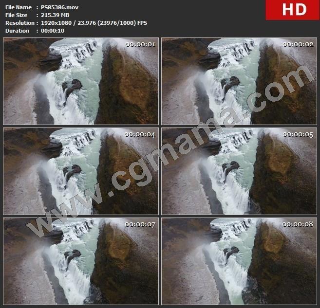 PS85386空中瀑布实拍素材高清实拍视频素材