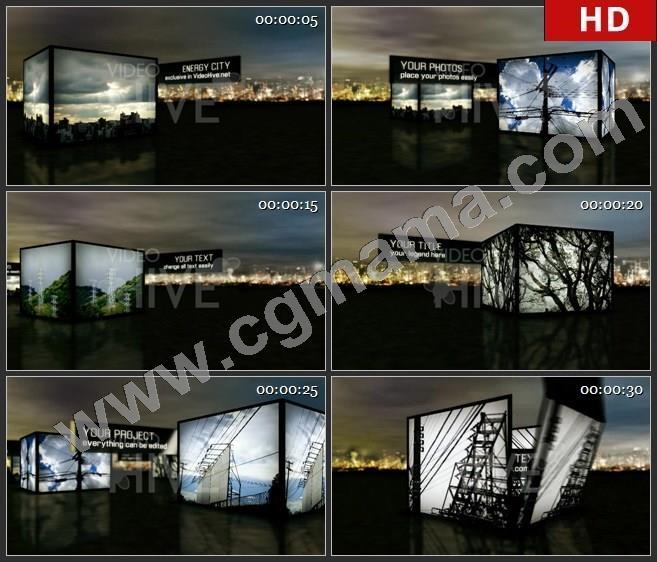 AEB00029三维立方体图片展示图文展示ae模板