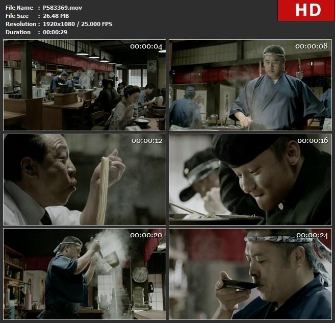PS83369日本料理餐饮饮食餐馆面食拉面熬制骨汤吃面高汤高清实拍视频素材