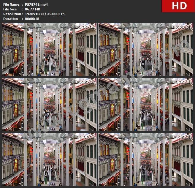 PS78748超清实拍商业街繁忙地铁口视频素材高清视频素材