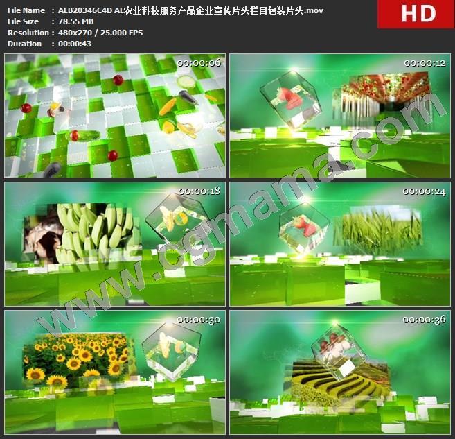 AEB20346C4D AE农业科技服务产品企业宣传片头栏目包装片头ae模板c4d模板