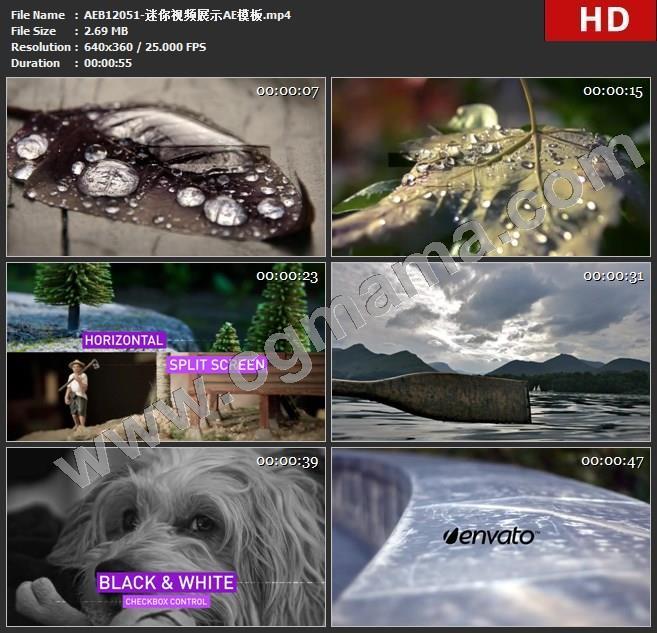 AEB12051-迷你视频展示AE模板