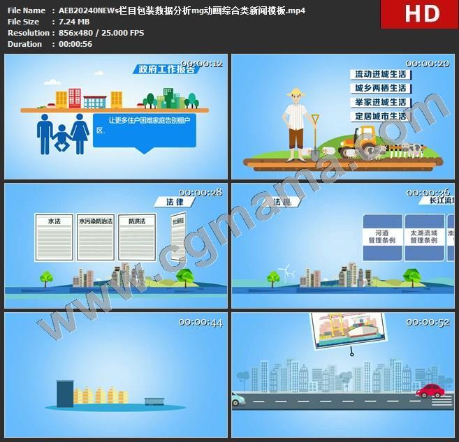 AEB20240NEWs栏目包装数据分析mg动画综合类新闻模板