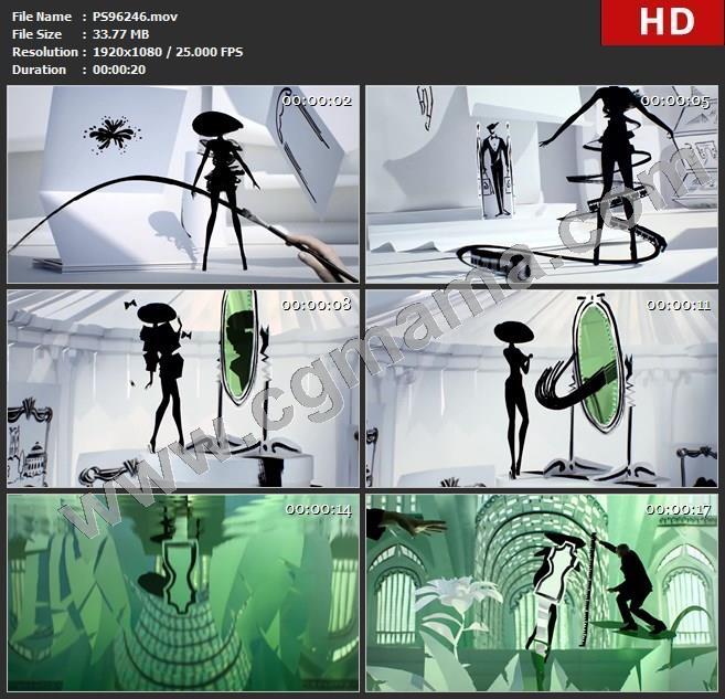 PS96246特技表演跳跃舞动图画照镜子喷水高清实拍视频素材