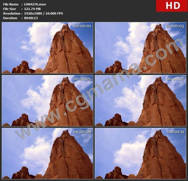 LH04276low-angle-of-tall-red-cliff-in-arches-national-park_-拱形国家公园高耸红崖低角高清实拍视频素材