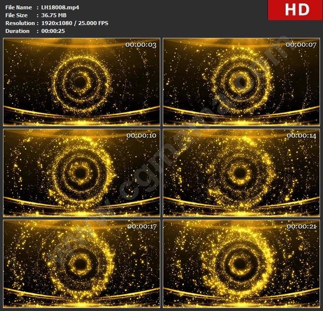 LH18008奢华金色粒子光斑舞台 金色粒子led大屏舞台舞蹈晚会高清视频素材