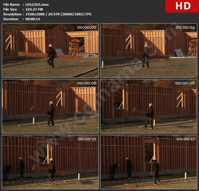 LH12365高清建筑工人搬运工程原料实拍视频实拍视频素材