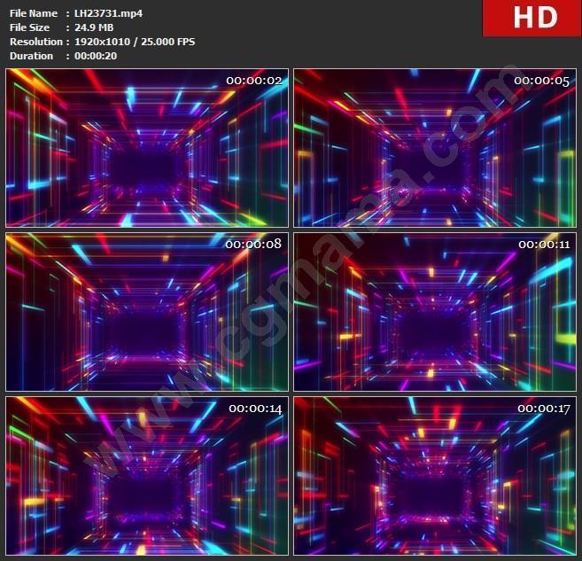 LH23731LED大屏LED大屏炫酷动感粒子线条dj晚会演绎背景素材高清视频素材