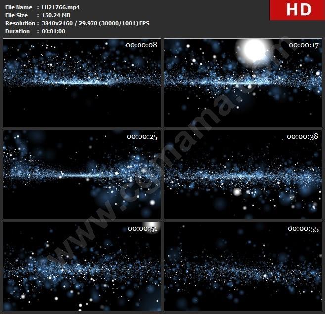 LH21766LED大屏LED大屏蓝色粒子斑点闪烁炫酷时尚科技企业宣传背景高清视频素材