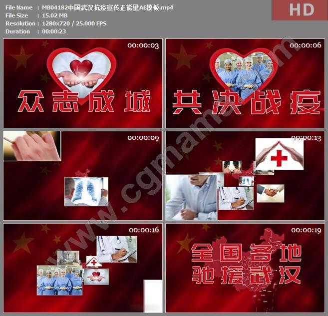 MB04182中国武汉抗疫宣传正能量AE模板