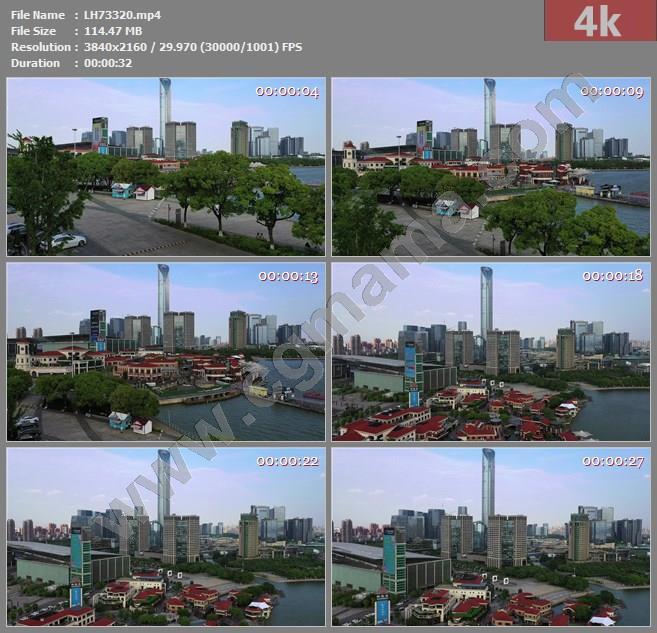 LH73320航拍苏州地标IFS国金中心4K实拍视频素材