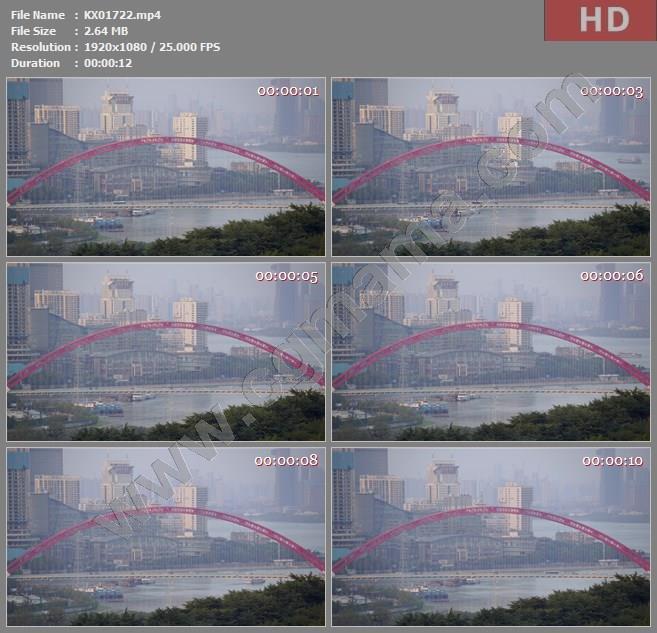 KX01722高清2k延时素材城市景观和水陆交通高清实拍视频素材